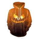 3D Pumpkin Printed Long Sleeve Halloween Series Hoodie