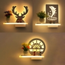 Cartoon Design White Wall Lamp for Kids Room Hallway Three Designs for Option