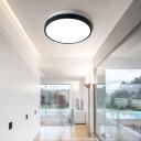 Post-Modern Design Black 2 Round Led Flush Ceiling Light High Performance Cool White Light 12/24/36W Halo LED Flush Mount Lighting in Acrylic Lampshade
