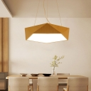 Contemporary Metal Faceted Led Pendant Lights 15.7