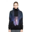 Galaxy Forest Printed Long Sleeve Sports Hoodie