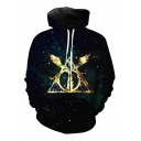 Fancy Galaxy Printed Long Sleeve Casual Hoodie