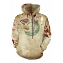 3D Terror Distressed Letter Blind Printed Long Sleeve Hoodie