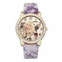 Diamante Floral Pattern Leisure Quartz Watch