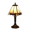 Dragonfly Motif Square Tiffany Glass Shade Table Lamp with Aged Bronze Base