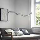 Aesthetic Contemporary Wave Shaped Led Pendant Lights 42.35