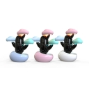 Cartoon Design Cloud Shape Kids Bedroom Table Light with Alarm Function in Contemporary Style