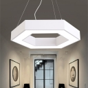 Modern Metal Chandelier Lighting Glare Control 15.75