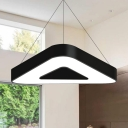 Low Profile Led Triangle Suspended Light Modern Black/White Light Fixture 23.62