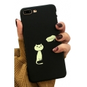 Lovely SLEEPY Letter Cat Printed Mobile Phone Cases for iPhone