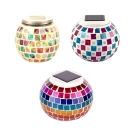 Stained Glass Mosaic Design Global Accent Table Lamp Powered by Solar Energy 3 Designs for Choice