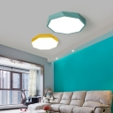 Macaroon Style Modern Lighting LED Geometric Acrylic Ceiling Lights in Green/Yellow 15.75