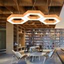 Modern Decorative Led Chandelier Hexagon Shaped Down Lighting Led Performance Light Adjustable