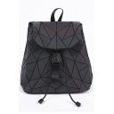 Triangle PU Leather Leisure Backpack School Bag