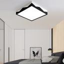 Contemporary Designers Lighting Square Led Ceiling Light Unique Lighting Black Finish Energy Saving 24/36W Acrylic Cube Surface Mount Lights for Bedroom Living Room Bathroom Aisle