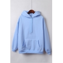 Basic Simple Plain Long Sleeve Hoodie