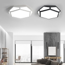 Fully Luminious Modern Led Ceiling Light Fixture Flush Mount Lighting Fixture 24/36W Bright Cool Light Acrylic Lampshade Hollow Diamond Shaped Led Surface Mount Lighting