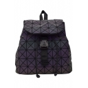 Chic PU Leather Geometric Laser Backpack School Bag