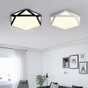 Light-adjustable 18/24/36W Glare-Control Led Diamond Shaped Flush Mount Lighting 18/24/36W High Output Surface Mount Lights in Black/White