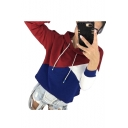 Stylish Color Block Long Sleeve Hoodie