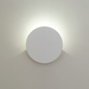 """Post Modern Hardwire White Led Inside-Out Wall Light Sconce 2.51"""" Wide 4W 3000K/6000K Energy-Saving Round Led Sconces Light for Bedside Hallway Stairways Balcony"""