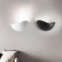 Minimalist Contemporary 12W 90lm Crest Led Wall Light Aluminum 7.87