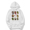 Lovely Cartoon Dog Printed Long Sleeve Hoodie for Couple