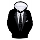 3D Blazer Letter Tie Printed Long Sleeve Oversized Hoodie Like A Level 99 Boss