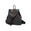 Cool PU Geometric Press-Release Straps Backpack