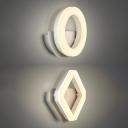 Modern Contemporary Sconces 9W 4200K Neutral Light White Acrylic Halo/Geometric Led Wall Light 2 Designs for Option Bathroom Bedroom Hallway Restaurant Wall Lighting Fixture