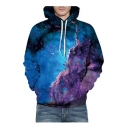 Galaxy Mountain Printed Long Sleeve Casual Hoodie