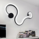 Modern Minimalist Aluminum Curl Wall Light Led 30.31