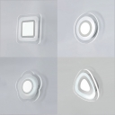 "Multi Designs Accent Lighting 8.67"" Wide Ultra Slim Led Wall Sconce 13W Acrylic Wall Light for Bathroom Cloakroom Balcony Pathway 4 Designs for Option"