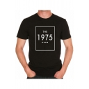 THE 1975 Letter Print Round Neck Long Sleeve Graphic Tee