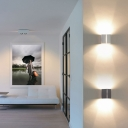 Creative Led Up and Down Lighting Metal Shade Max 36W High Bright Folds Wall Sconce 3000K Warm Light 5.9