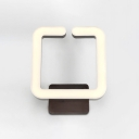 Contemporary Lights Brown Acrylic Wall Sconce 8.67