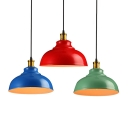 Industrial Pendant Light with 15.75''W Metal Shade in Barn Style