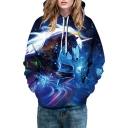 Fancy Unicorn Galaxy Print Long Sleeve Unisex Hoodie