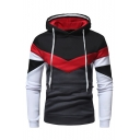 Winter Collection Color Block Long Sleeve Slim Menswear Hoodie