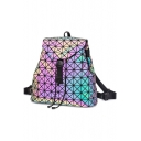 Reflective Geometric Buckle Straps Large Capacity Backpack