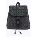 Asymmetrical Geometric PU Leather Backpack School Bag