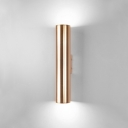 Polished Brass Led Bollard Wall Light Post Modern Creative Metal Cylinder Wall Sconce 3W/5W/7W 6000-6500K Warm White Light for Bedside Coat Rack Gallery Porch Aisle 3 Sizes for Option