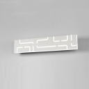 Modern Bathroom Light Fixtures Led Linear Vanity Light Acrylic Creative 14W/16W Edge Vanity Wall Bar in White Finish Modern Style Mirror Wac Wall Lighting