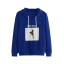 SEE YOU Letter Cat Print Long Sleeve Casual Hoodie