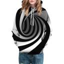 3D Swirl Long Sleeve Unisex Hoodie