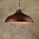 12.2 Inch Wide Metal Dome Shade Single Head Pendant Lighting Fixture for Bar Garage Warehouse 2 Colors for Option
