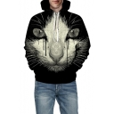 New Arrival 3D Cat Print Long Sleeve Casual Unisex Hoodie