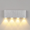 Silver Aluminum Rectangular Wall Sconce 6W/8W Low Voltage Lighting 7.06