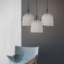 Heavy Industrial Style Stone Gray Dome Shade Ceiling Pendant Light 6.3