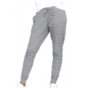 Striped Printed Drawstring Waist Leisure Pants